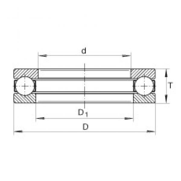 INA GT41 thrust ball bearings #3 image