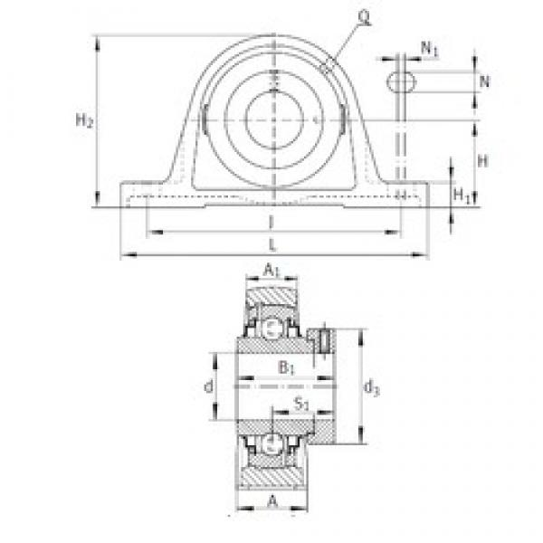 INA RAK3/4 bearing units #3 image