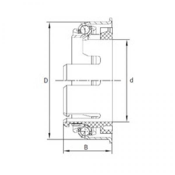 INA F-230539.1 angular contact ball bearings #3 image