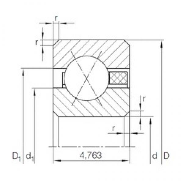 INA CSXAA 015 TN angular contact ball bearings #3 image