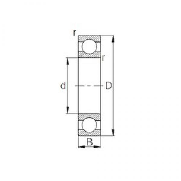 CYSD 6948 deep groove ball bearings #2 image
