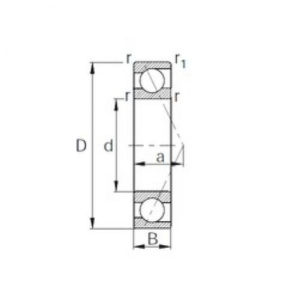 CYSD 7221B angular contact ball bearings #2 image