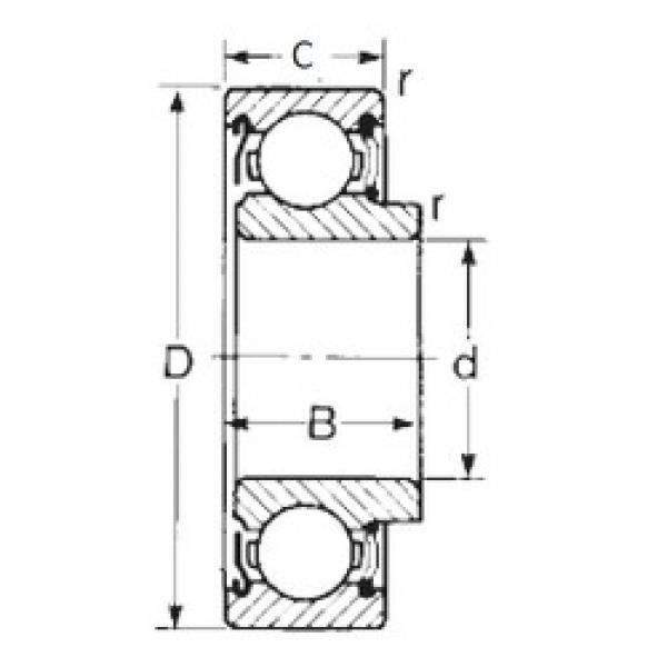 CYSD 87501 deep groove ball bearings #2 image