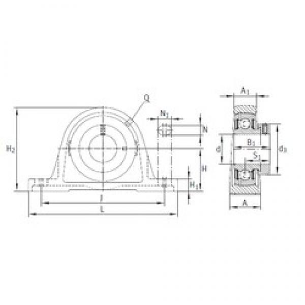 INA PASE55 bearing units #3 image