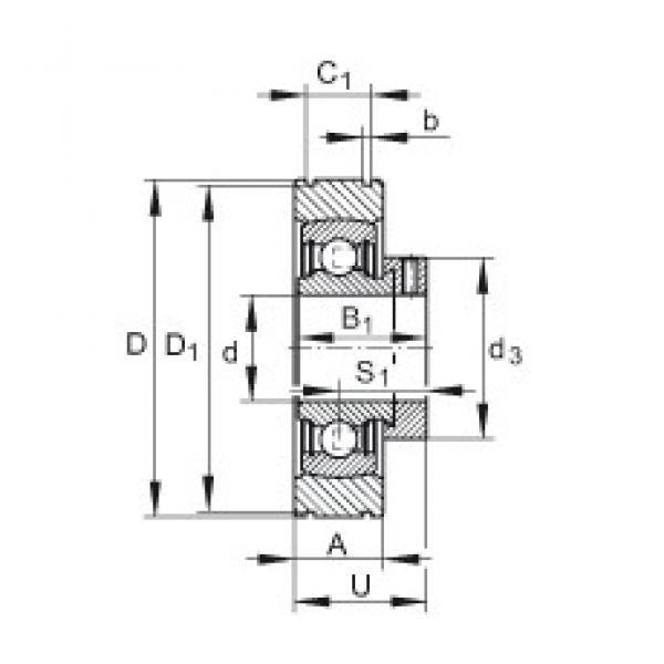 INA PE20 deep groove ball bearings #3 image