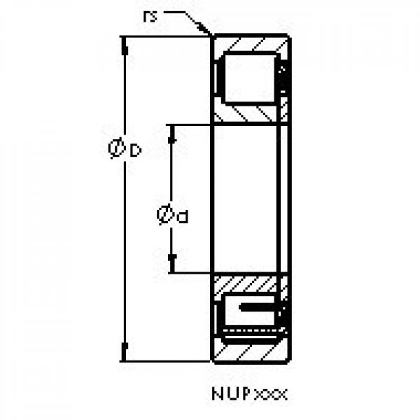 AST NUP224 cylindrical roller bearings #2 image
