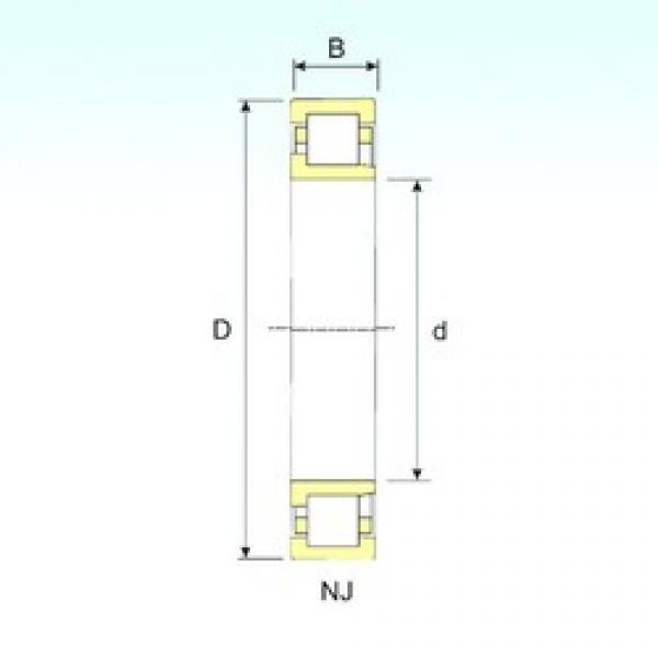 ISB NJ 2228 cylindrical roller bearings #3 image