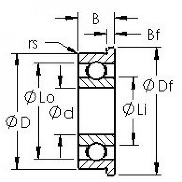AST F688H deep groove ball bearings #2 image