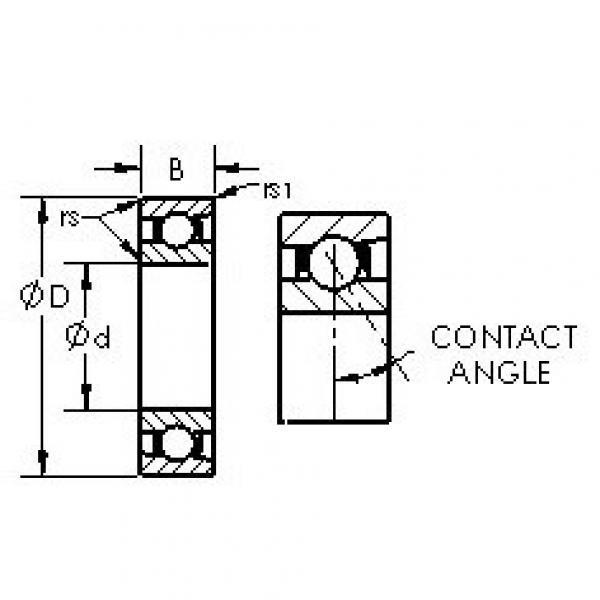 AST 71948AC angular contact ball bearings #2 image