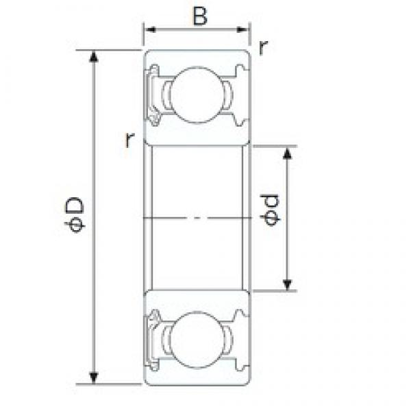 CYSD 1658-RS deep groove ball bearings #2 image