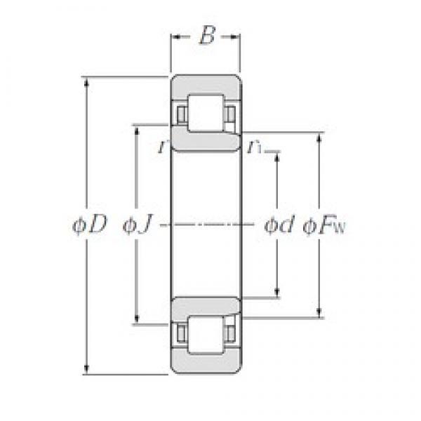 CYSD NJ313E cylindrical roller bearings #2 image